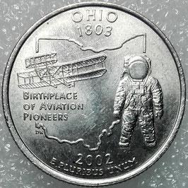 Washington 50 States Quarters (25 Cents) - Ohio 2002 D KM#332 XF-