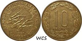 Cameroon 10 Francs 1958 KM#11 UNC-