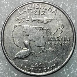 Washington 50 States Quarters (25 Cents) - Louisiana 2002 D KM#333 VF