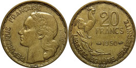 France 20 Francs 1950 GEORGES GUIRAUD KM#916.1