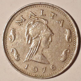 Malta 2 Cents 1972-1982 KM#9
