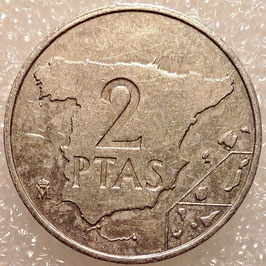 Spain 2 Pesetas 1984 KM#822 VF