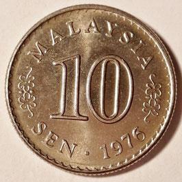 Malaysia 10 Sen 1967-1988 KM#3