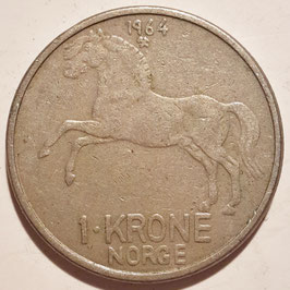 Norway 1 Krone 1958-1973 KM#409