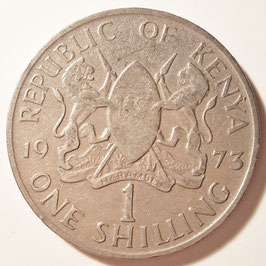 Kenya 1 Shilling 1969-1978 KM#14