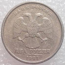 Russia 2 Rubles 1997-2001 Y#605