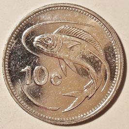 Malta 10 Cents 1991-2007 KM#96