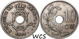 Belgium 10 Centimes 1904-1906 BELGIQUE KM#52