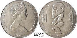 Cook Islands 1 Dollar 1973 KM#7 UNC-