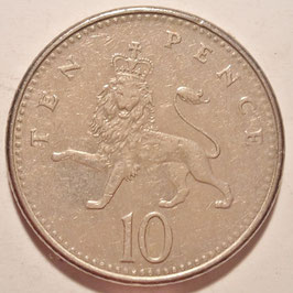 Great Britain 10 Pence 1992-1997 KM#938b