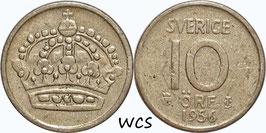 Sweden 10 Öre 1956 TS KM#823 VF-