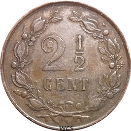 Netherlands 2½ Cents 1880 KM#108 VF