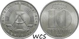 GDR 10 Pfennig 1979 A KM#10 UNC