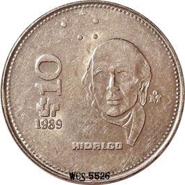 Mexico 10 Pesos 1985-1990 KM#512
