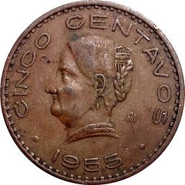 Mexico 5 Centavos 1942-1955 KM#424