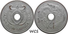 Papua New Guinea 1 Kina 2002 KM#6a F