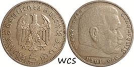 Germany - Third Reich 5 Reichsmark 1935 D KM#86 VF (1)