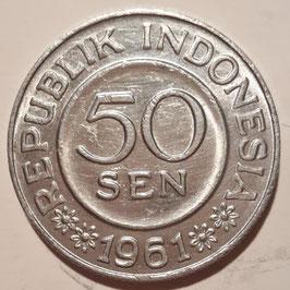 Indonesia 50 Sen 1961 KM#14