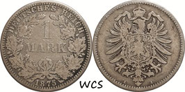 German Empire 1 Mark 1875 A KM#7 F (2)
