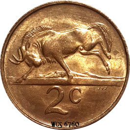 South Africa 2 Cents 1970-1990 KM#83