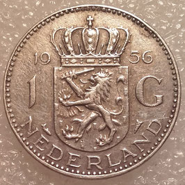 Netherlands 1 Gulden 1956 KM#184 VF (1)