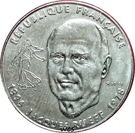France 1 Franc 1996 - 100th Anniversary - Birth of Jacques Rueff KM#1160 XF
