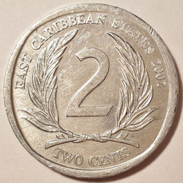 East Caribbean States 2 Cents 2002-2011 KM#35