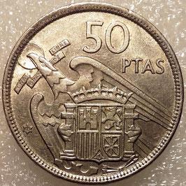 Spain 50 Pesetas 1957 KM#788