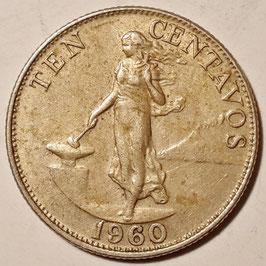Philippines 10 Centavos 1958-1966 KM#188