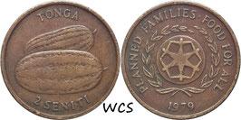 Tonga 2 Seniti 1979 F.A.O. KM#43 VF-