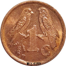 South Africa 1 Cent 1997-2000 ISEWULA AFRIKA KM#170
