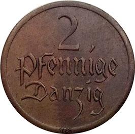 Danzig 2 Pfennig 1926 KM#141 VF+