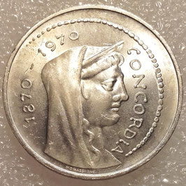 Italy 1000 Lire 1970 KM#101 UNC- - 100th Anniversary - Rome as Italian capital