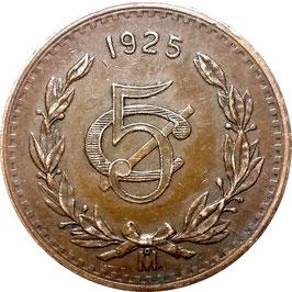 Mexico 5 Centavos 1925 KM#422 VF