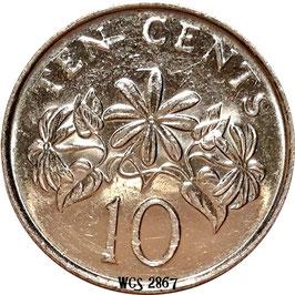 Singapore 10 Cents 1992-2012 KM#100