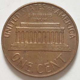 USA 1 Cent (Lincoln Memorial Cent) 1959-1982 KM#201