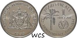 Trinidad and Tobago 1 Dollar 1995 KM#61 UNC - 50th Anniversary of F.A.O.
