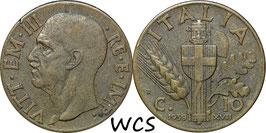 Italy 10 Centesimi 1939-1943 KM#74a
