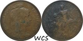 France 5 Centimes 1912 KM#842 F