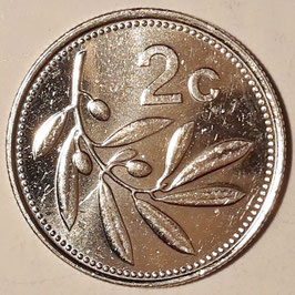 Malta 2 Cents 1991-2007 KM#94
