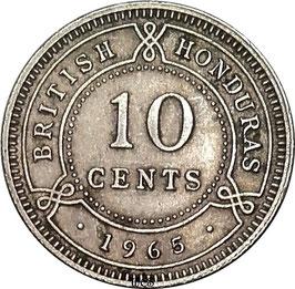 British Honduras 10 Cents 1965 KM#32 VF