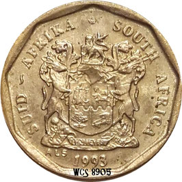 South Africa 10 Cents 1990-1995 KM#135