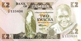 Zambia 2 Kwacha 1986-88 P.24c Series 87/B