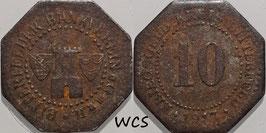 Saxony - Bitterfeld 10 Pfennig 1917 Iron Funck#44.4 F+