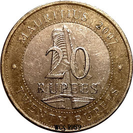 Mauritius 20 Rupees 2007 - 40th Anniversary of the Bank of Mauritius KM#66 VF