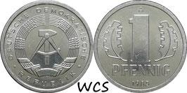 GDR 1 Pfennig 1983 A KM#8.2 Prooflike