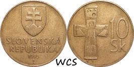 Slovakia 10 Korun 1993-2008 KM#11 .1