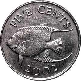Bermuda 5 Cents 1999-2009 KM#108