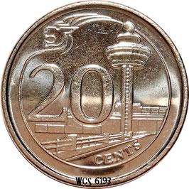 Singapore 20 Cents 2013-2017 KM#347