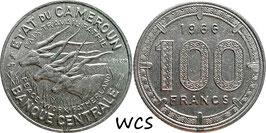 Cameroon 100 Francs 1966 KM#14 XF-